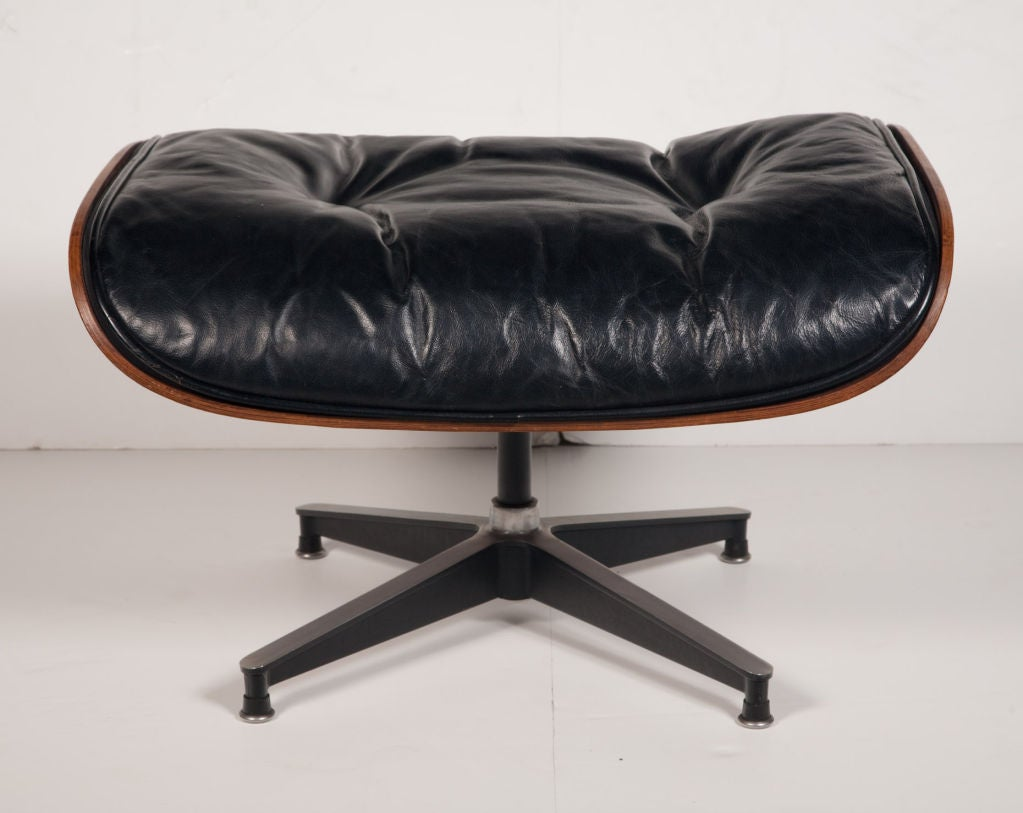 Leather Exceptional Chair and Ottoman by Charles Eames for Herman Miller