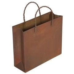 Italian Brass Tote Bag Magazine Stand