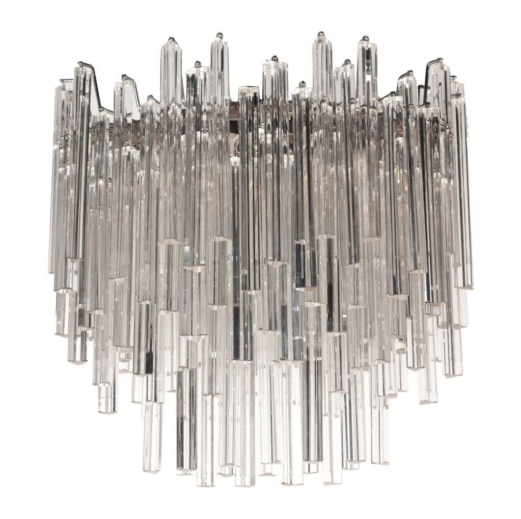 Radiant Oblong Crystal Glass Chandelier by Camer Glass at 1stdibs – Glass Prisms for Chandeliers