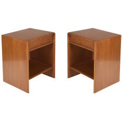 Pair of Top Drawer Nightstands by T.H. Robsjohn-Gibbings for Widdicomb