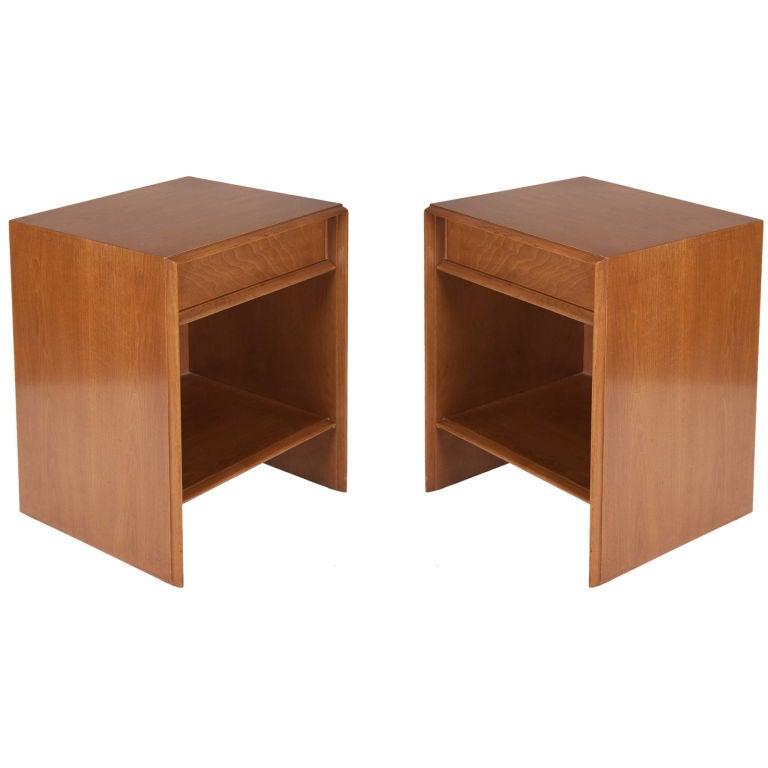 Pair of Top Drawer Nightstands by T.H. Robsjohn-Gibbings for Widdicomb For Sale