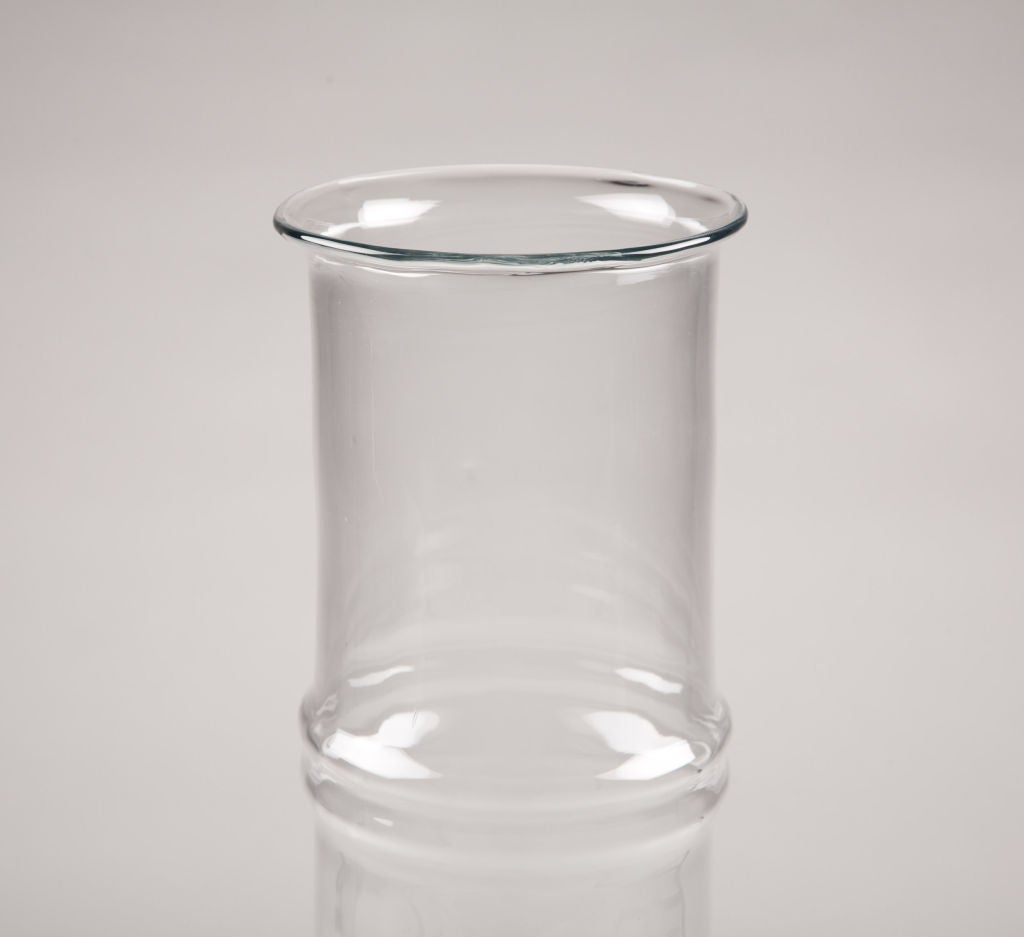 Mid-Century Modern Faux Bamboo Glass Vase by Don Shepherd for Blenko For Sale