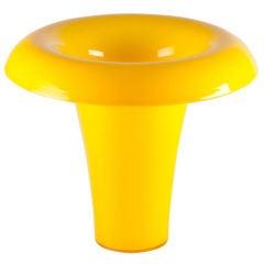 Yellow Flower Vase by Salviati
