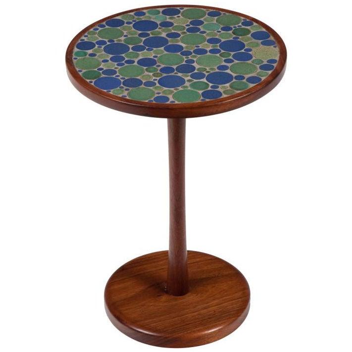 Ceramic tile top occasional table by gordon martz at 1stdibs - Ceramic pedestal table base ...