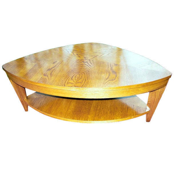 Unusual light oak 1950s coffee table at 1stdibs for Unusual cocktail tables