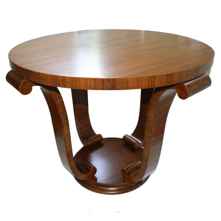 Art Deco Walnut Coffee Table At 1stdibs