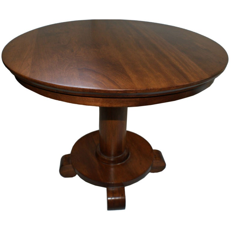 Empire style cherry wood side table end table at 1stdibs for Cherry side table