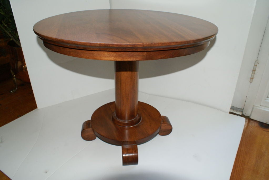 Empire style cherry wood side table end table image 4 for Cherry side table