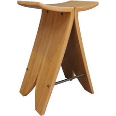 David N. Ebner, Artist Craftsman, Bamboo High Stool