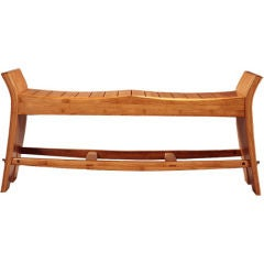 David N. Ebner, Studio Craft Artist, Slatted Bamboo Bench