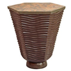 David N. Ebner Studio Craftsman, Sculptural Masterpiece, Wave Side Table