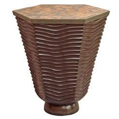 David N. Ebner Studio Craftsman, Sculptural Masterpiece, Wave Side Table