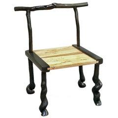 David N. Ebner. Studio Craftsman, Sassafras Wood Book Chair