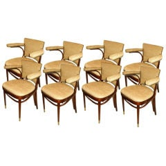 Eight Mid-Century Thornet Dining Room Chairs