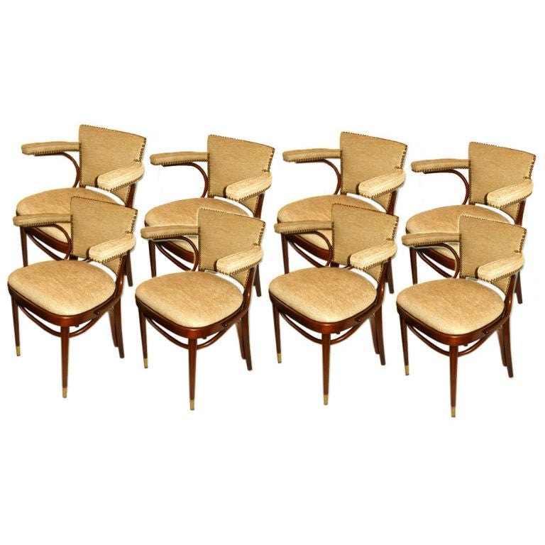 this eight mid century thornet dining room chairs is no longer