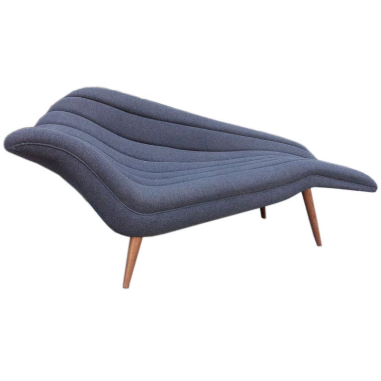 Rare chaise lounge by hans harti for eugene schmidt at 1stdibs for Chaise schmidt