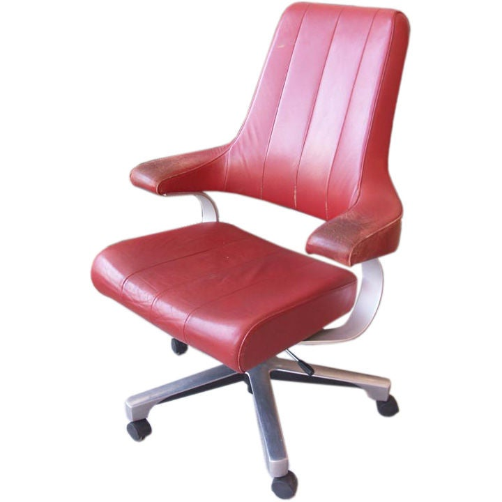 Futuristic Danish Executive Desk Chair At 1stdibs