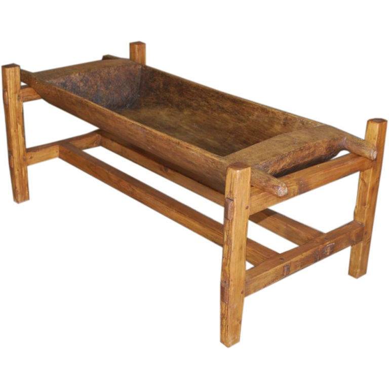 Large Antique Doughset Planter or Coffee Table