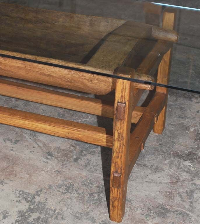 Large Antique Doughset Planter Or Coffee Table For Sale At