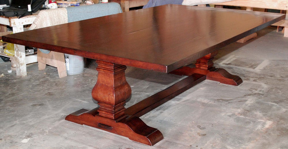 Impressive Distressed Trestle Dining Table 1000 x 517 · 120 kB · jpeg