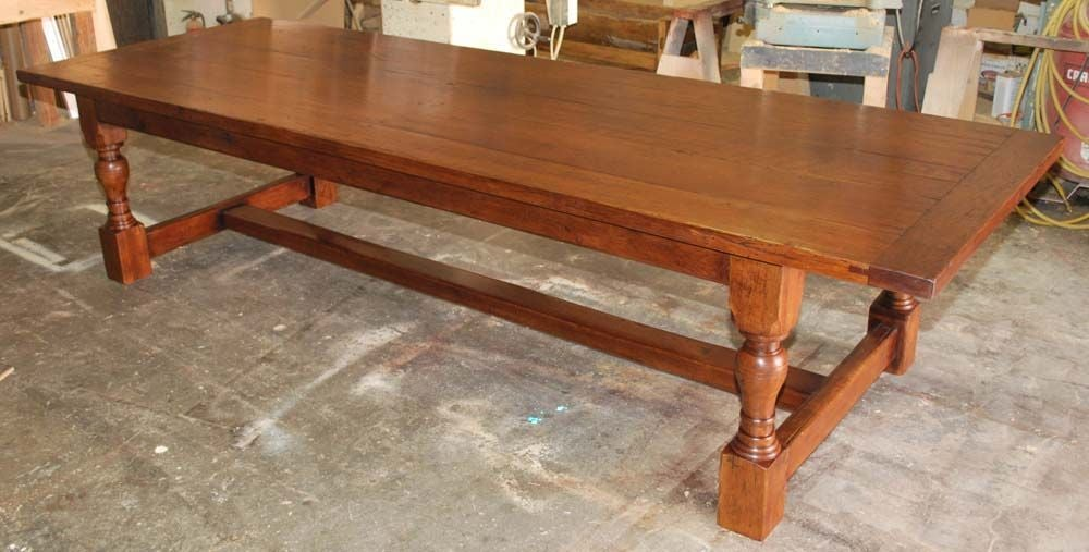 Library Table  Dining Table Made from Reclaimed Oak 3. Library Table  Dining Table Made from Reclaimed Oak For Sale at