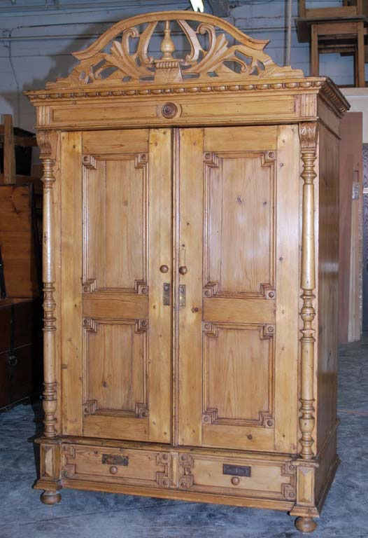 Latvian Baltic Armoire For Sale