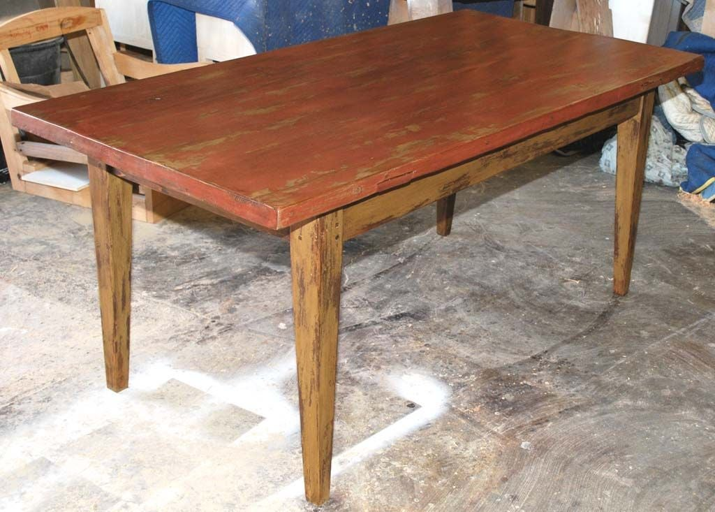 Painted Farm Table Reclaimed Antique Wood At 1stdibs