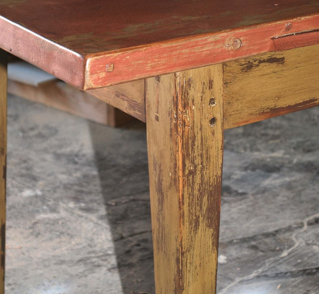 Painted Farm Table Reclaimed Antique Wood For Sale At 1stdibs