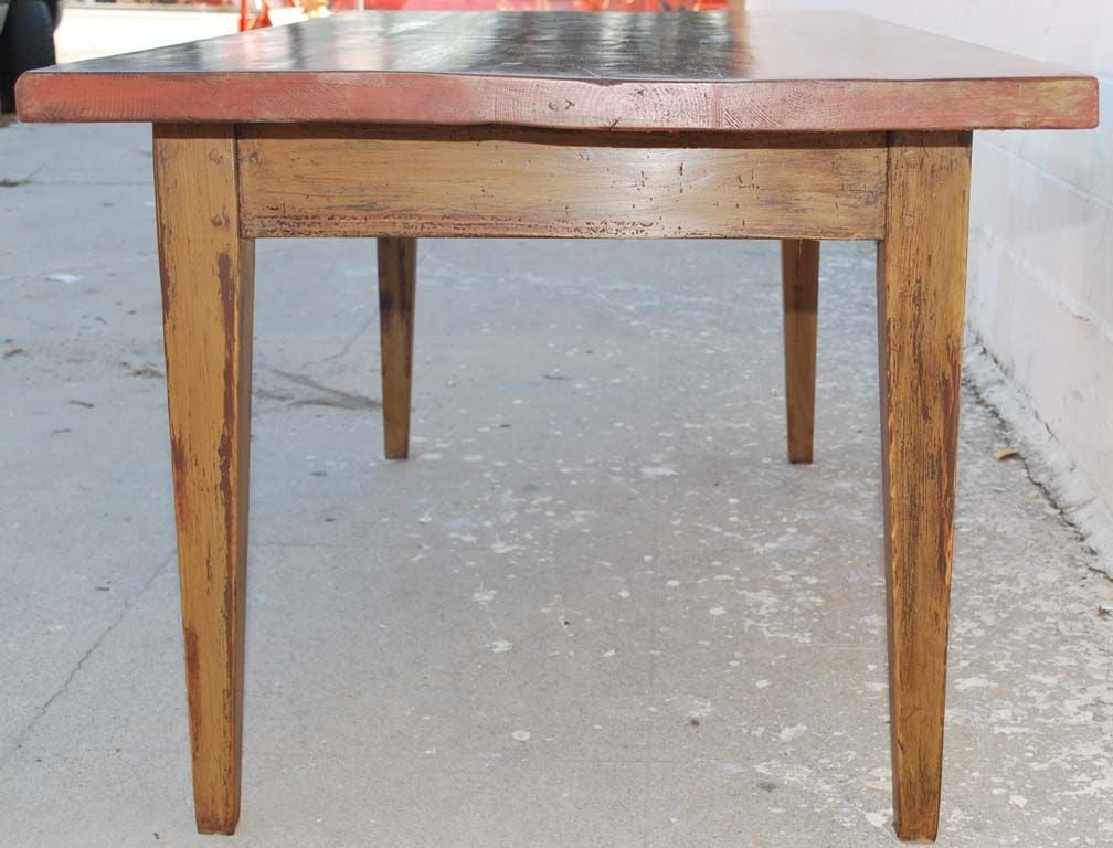 Farm Wood Furniture ~ Painted farm table reclaimed antique wood for sale at stdibs