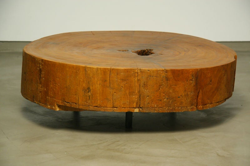 Salvaged solid Peroba wood block coffee table 2. Salvaged solid Peroba wood block coffee table at 1stdibs