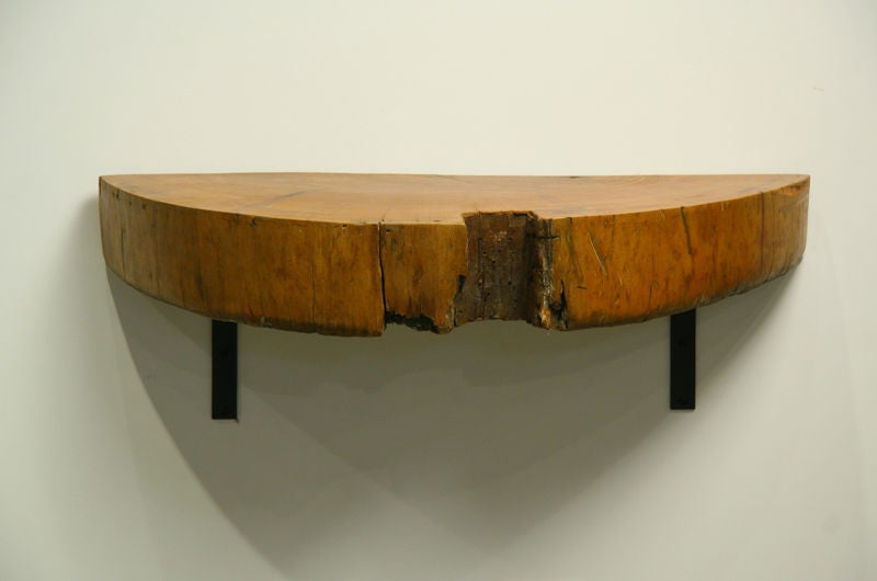 a solid peroba half round wall mounted shelf at 1stdibs shelf cabinet shelf cabinet with doors