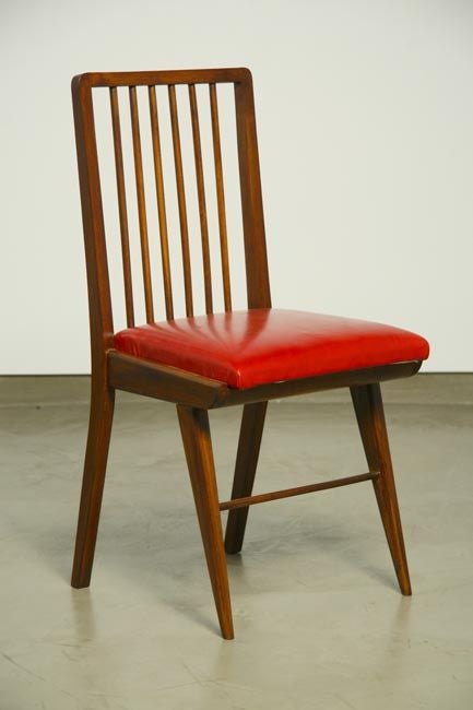 Set Of Six Beautiful Brazilian Spindle Back Dining Chairs