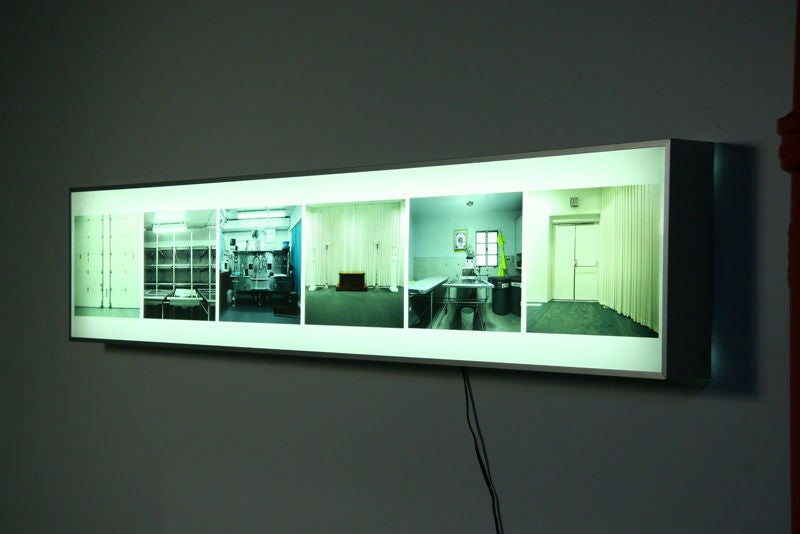 Wall Mounted Work Lights : Light box wall mounted art work by Maguerite Beckley at 1stdibs