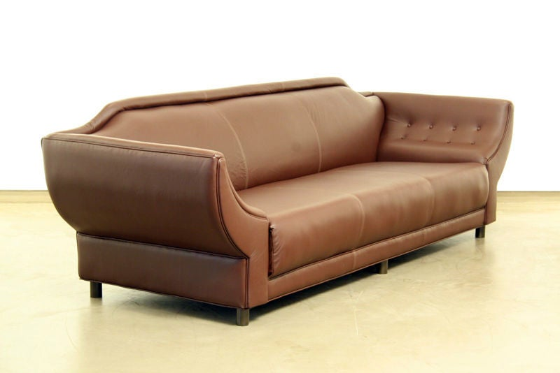 Beautiful large winged leather sofa at 1stdibs - Pics of beautiful sofa ...