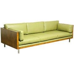 The now iconic Milo Baughman case sofa