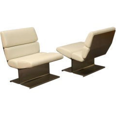 Pair of lounge chairs by FRANCOIS MONNET FOR KAPPA  1971.