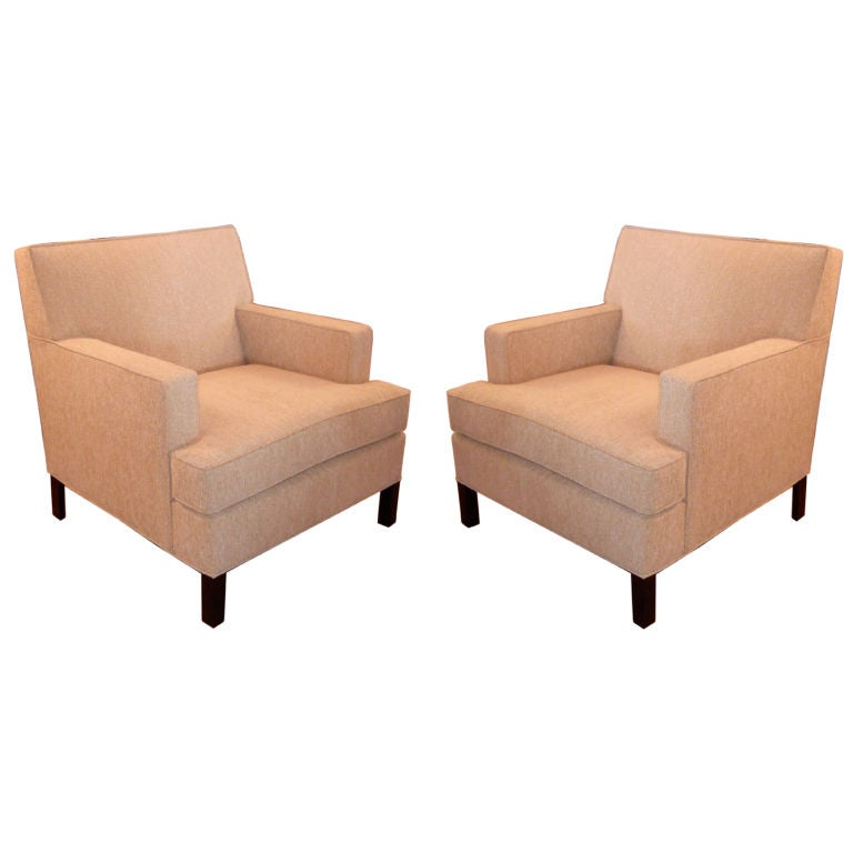 Pair Of Mid Century Club Chairs At 1stdibs