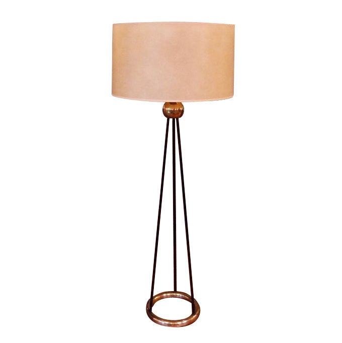 This pair of gerald thurston floor lamps is no longer available - Mid Century Tripod Floor Lamp At 1stdibs