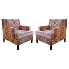 Pair of Two-Tone Club Chairs