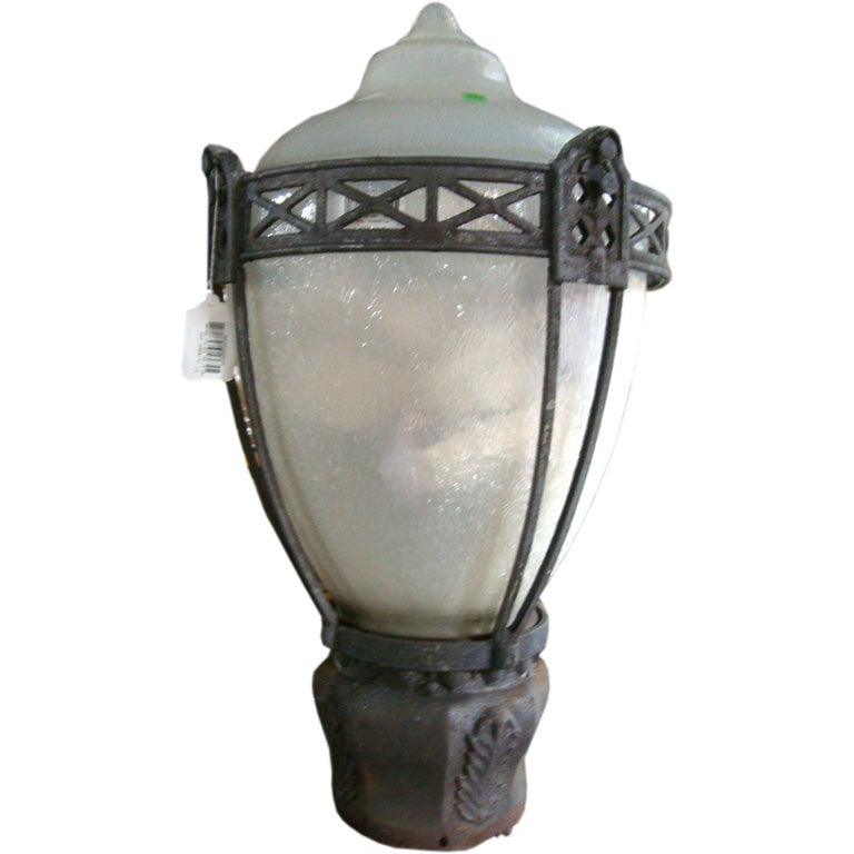 A Large Neoclassical Lantern For A Street Light With Two