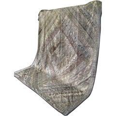 A King Size Bedspread  of vintage Metallic Thread textiles