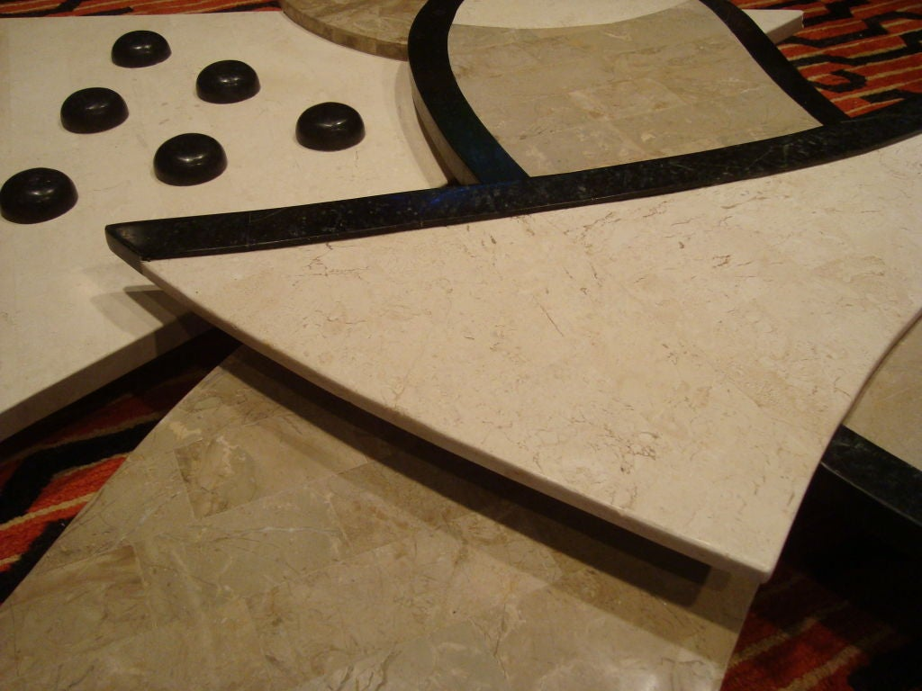 An Unusual Wall Sculpture Of Marble And Tessellated Stone