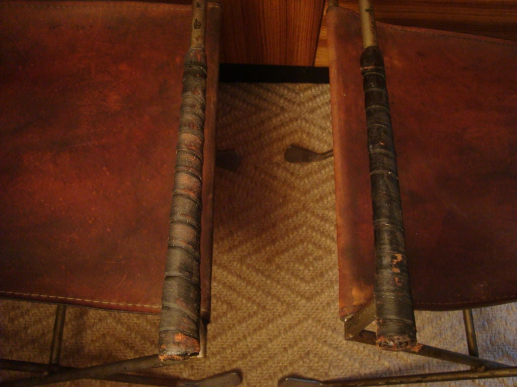 Pair of Exceedingly Unusual Chairs Constructed of Golf Clubs For Sale 1