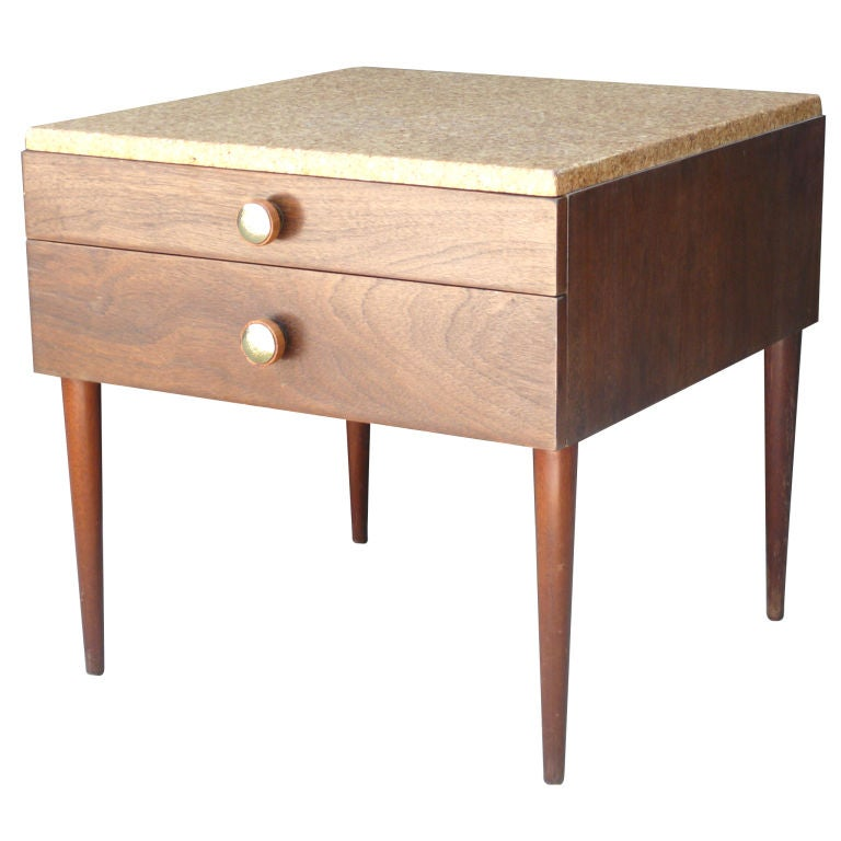 paul frankl cork end table at 1stdibs