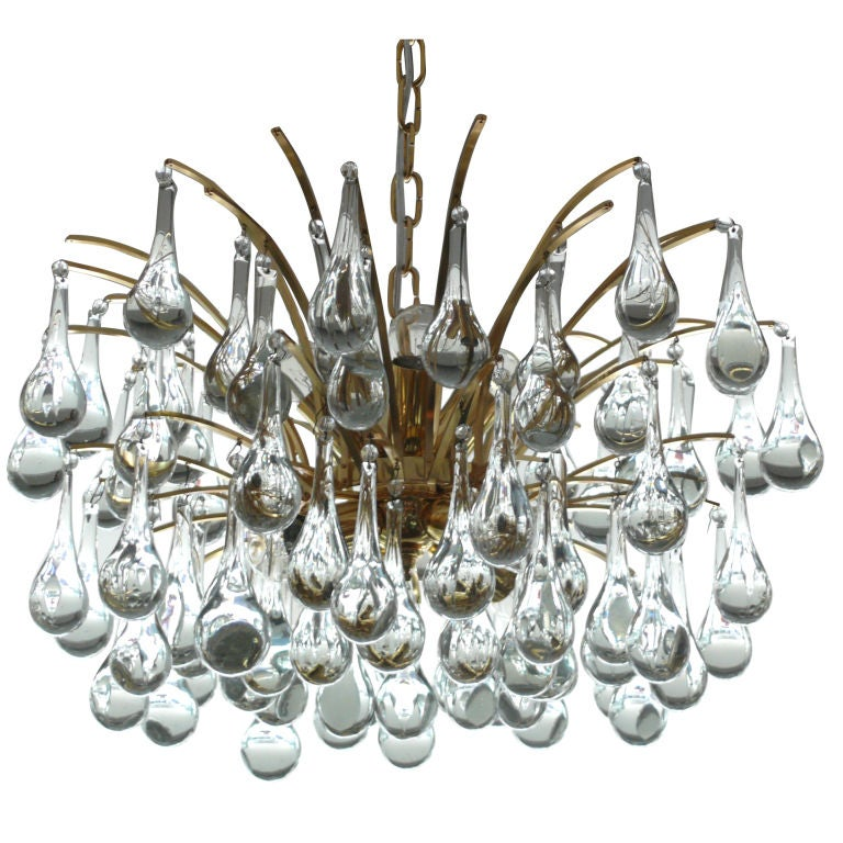 Sciolari Tear Drop Chandelier For Sale