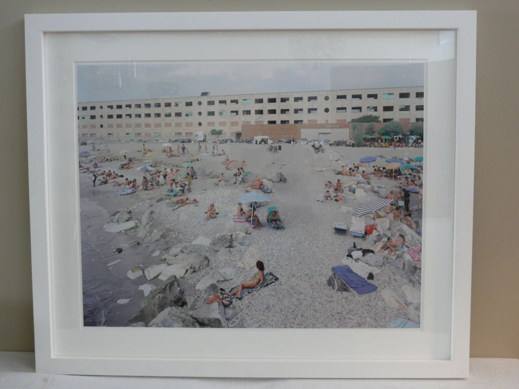 Massimo Vitali limited edition of 120. Offset lithograph on consort royal paper (heavy weight) Signed and numbered on the back. This image is of a colorful beach display and named
