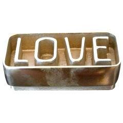 LOVE Brass Paper Weight