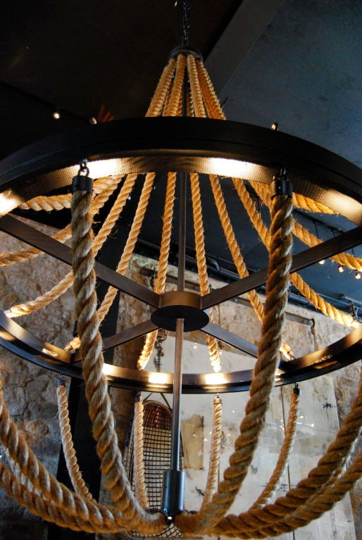American Rope Chandelier For Sale