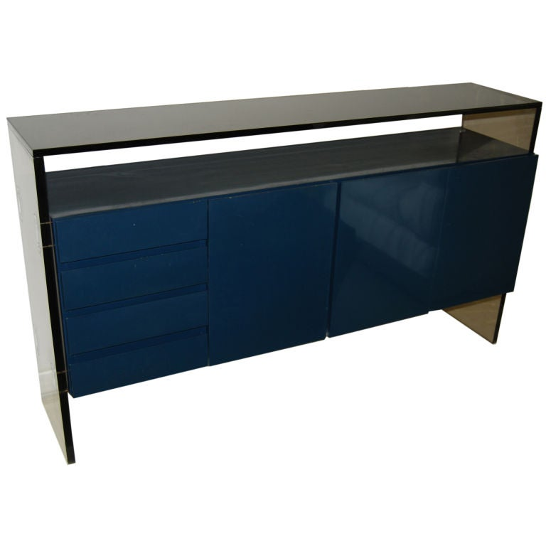 ... GREAT MILO BAUGHMAN LUCITE AND GLASS SIDEBOARD is no longer available