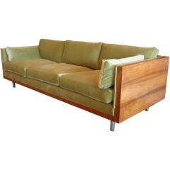 Chic Brazilian Rosewood Case Sofa By Milo Baughman